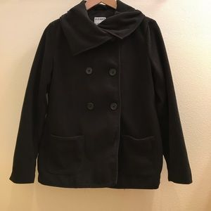 Old Navy Black Fleece Peacoat (Gently worn)